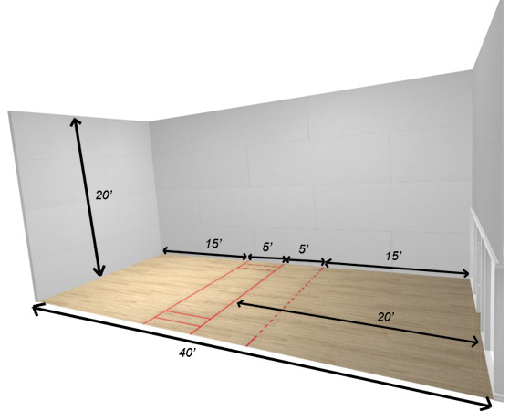 Where to play squash squash courts and players of sonoma Racquetball court diagram